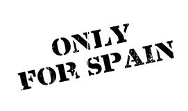 Only For Spain rubber stamp Royalty Free Stock Image