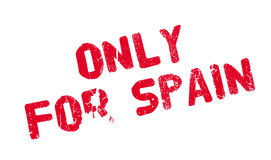 Only For Spain rubber stamp Stock Photos