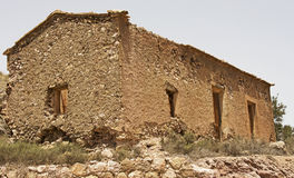 Spain's Industrial Past. This abandoned cottage is located in the forrmer industrial heartland of Murcia in Spain (near Cartagena) where the mining of metals and Royalty Free Stock Photography
