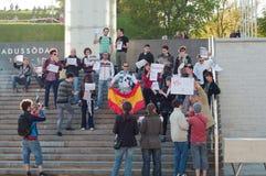 Spain's pre-election protest ban in Tallinn Stock Photos
