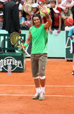 Spain's Rafael Nadal greets public Stock Photography
