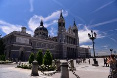 Spain `s royal palace. Landscape of the spain palace Royalty Free Stock Images