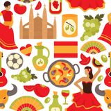 Spain seamless pattern Royalty Free Stock Image