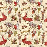 Spain seamless repeating pattern Royalty Free Stock Photo