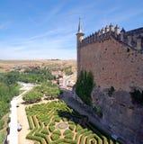 Spain, Segovia, Alcazar Gardens Royalty Free Stock Photography