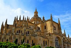 Spain Segovia Cathedral Royalty Free Stock Photos