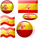 Spain Set Stock Photography