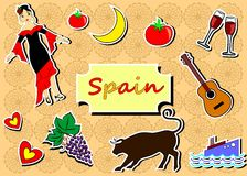 Spain set Royalty Free Stock Photo