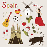 Spain set Royalty Free Stock Photos