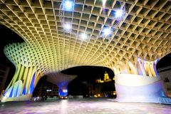 Free SPAIN - SEVILLA: Night View Of Metropol Parasol In Plaza Encarnacion, Andalusia Province. Stock Photos - 111576043