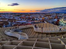 Spain. Sevilla. View of Sevilla from the observation deck Stock Photography