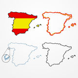 Spain silhouette set Royalty Free Stock Photo