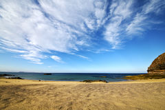 Spain sky cloud beach  and in lanzarote Royalty Free Stock Photography
