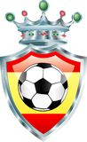 Spain soccer. Vector soccer ball on the spain flag Royalty Free Stock Photo