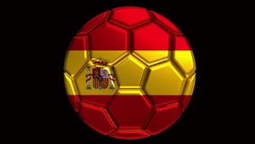 Spain soccer ball stock video footage