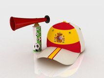 Spain soccer hat Stock Photos
