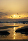 spain solnedgång Arkivfoto