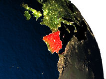 Spain from space Stock Images