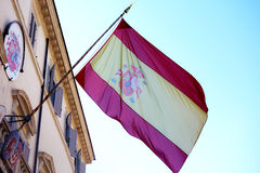 Spain Spanish Flag Wind Embassy Waving Royalty Free Stock Images