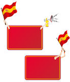 Spain Sport Message Frame with Flag. Vector - Spain Sport Message Frame with Flag. Set of Two royalty free illustration