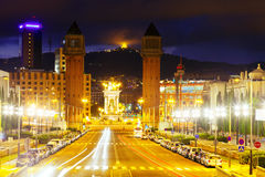 Spain square at Barcelona. Catalonia, Spain Royalty Free Stock Photos