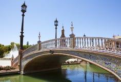 Spain Square bridge Royalty Free Stock Photography