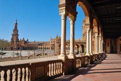 Spain square gallery Stock Image