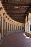Spain Square interior gallery and wood panelling Stock Photos