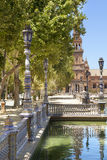 Spain Square lampposts Royalty Free Stock Photography