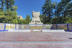 Spain Square in Mendoza, Argentina. Royalty Free Stock Images