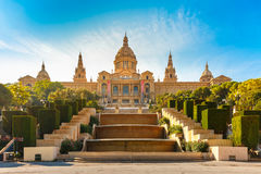 Spain square or Placa De Espanya, Barcelona, Spain stock images