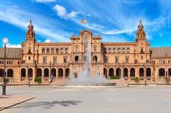 Spain square Plaza de Espana, Seville, Spain Stock Photography