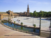 Spain Square in Sevilla Royalty Free Stock Photography