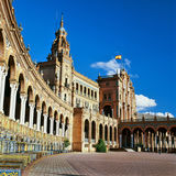 The Spain Square in Seville Royalty Free Stock Photography