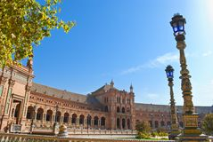 Spain square in Seville Royalty Free Stock Image