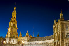 Spain Square in Seville, Andalusia, Spain. Royalty Free Stock Photography