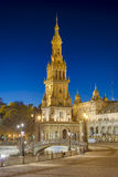 Spain Square in Seville, Andalusia, Spain. Stock Image
