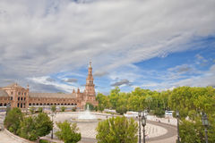 Spain square in Seville, Spain Royalty Free Stock Image