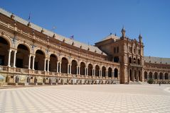 Spain Square, Seville, Spain Royalty Free Stock Photos