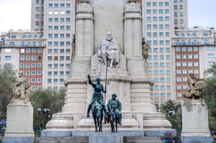 Spain Square in the spanish capital. Stock Image