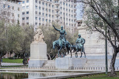 Spain Square in the spanish capital. Royalty Free Stock Photo