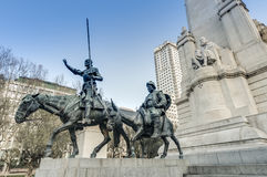 Spain Square in the spanish capital. Royalty Free Stock Photography