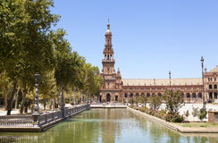 Spain Square tower Royalty Free Stock Image