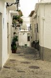 Spain. Streets of Capileira, village of the Alpujarras of Granada in Andalusia. royalty free stock photo