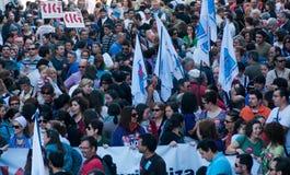 Spain strike Stock Image