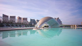 Spain sunny day city of arts and sciences valencia panorama 4k time lapse stock video footage