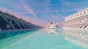 Spain sunny day valencia city of arts and sciences panorama 4k time lapse stock footage