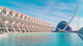 Spain sunny day valencia prince philippe museum and aquarium 4k time lapse stock video footage