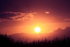 Spain sunset Stock Photos
