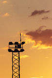 Spain, Sunset, Light Tower. Of a Soccer Field Royalty Free Stock Photo